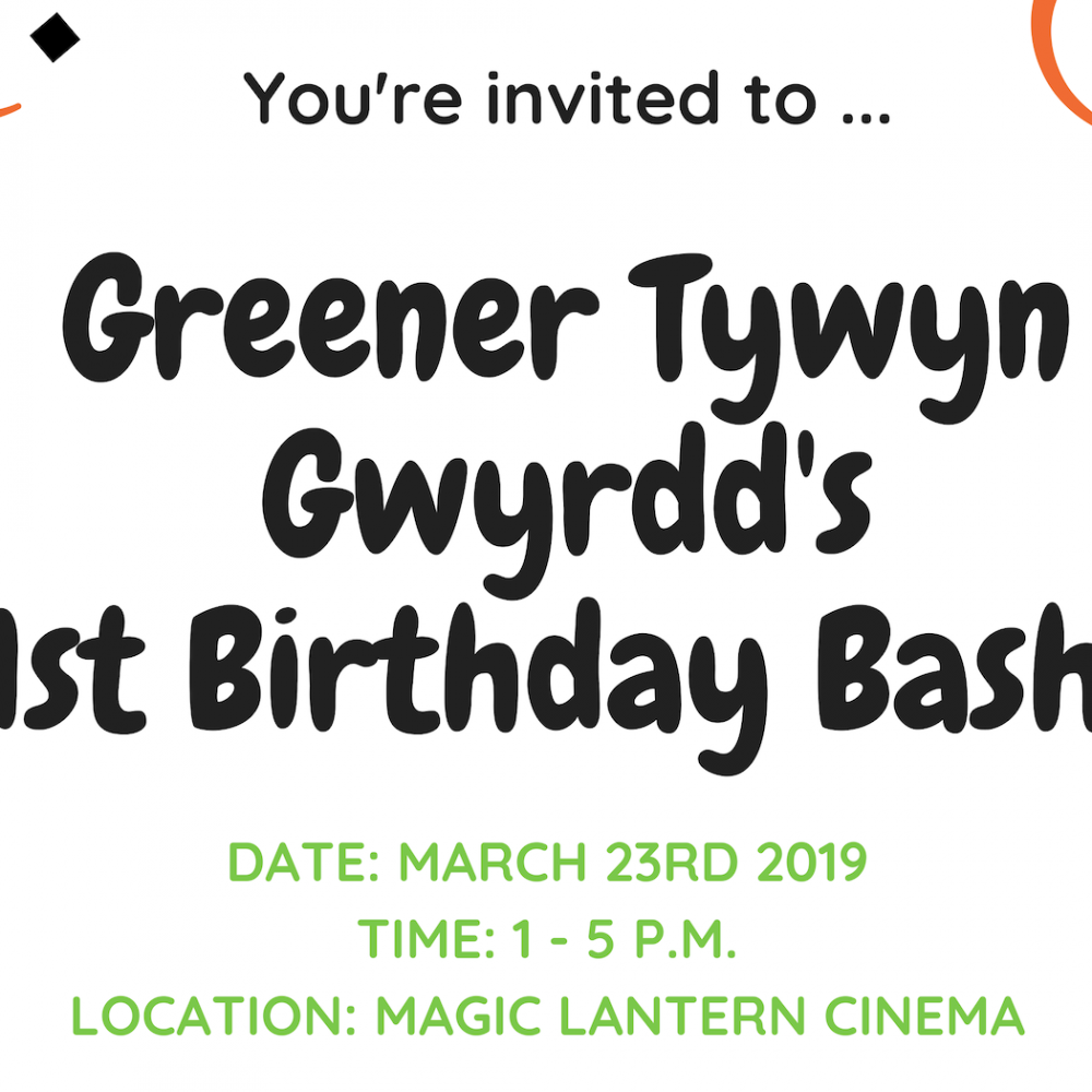 Greener Tywyn 1st Birthday Party: here's why you can't miss it!